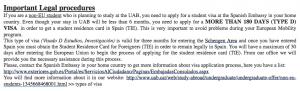 Surel dari kampus yang menjelaskan visa tipe D